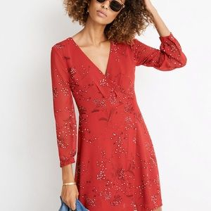 {Madewell} Hazelwood Wrap-Front Mini Dress! Size 4
